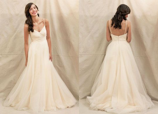 "Ivy & Aster ""Duchess"" wedding gown, available at Something White, A Bridal Boutique"
