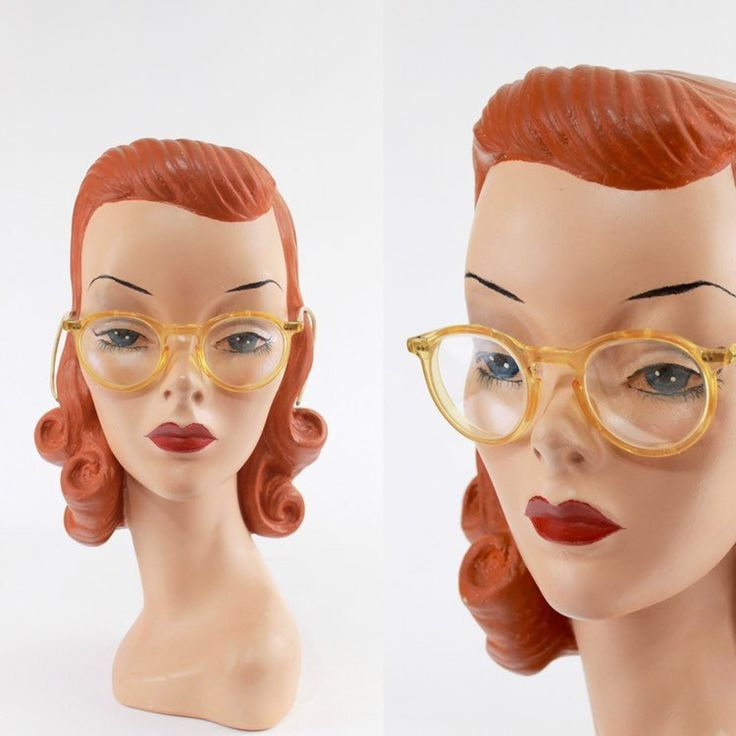 1930s vintage yellow lucite safety glasses spectacles