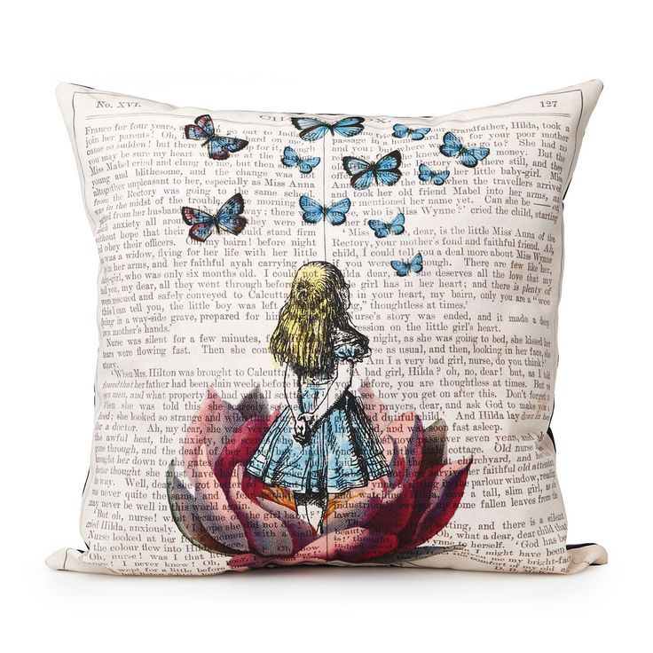 ALICE IN WONDERLAND PILLOW | Book pillow | UncommonGoods