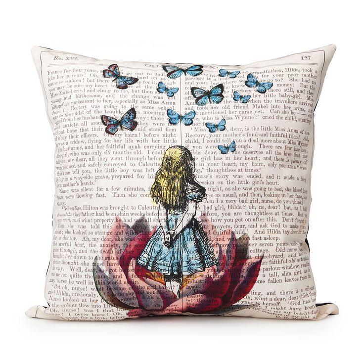 ALICE IN WONDERLAND PILLOW | Book pillow | UncommonGoods