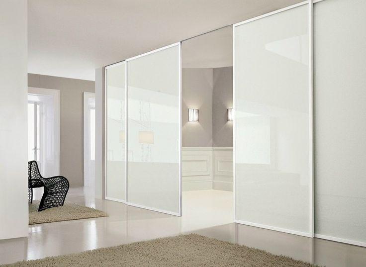 Mampara divisoria de vidrio lacado con puertas corredizas DEA by Doimo CityLine
