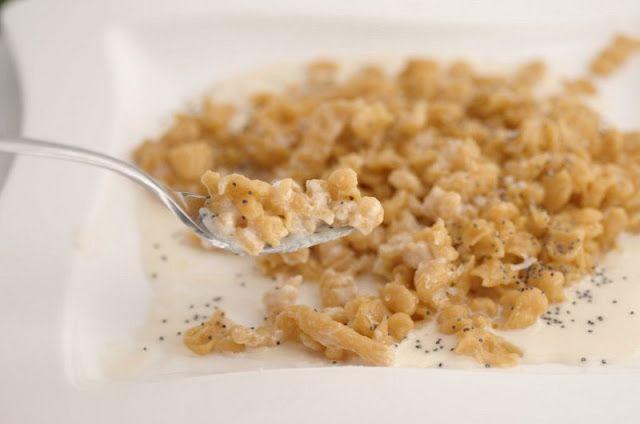 Gnocchetti di zucca (spätzli) con fonduta di Puzzone di Moena