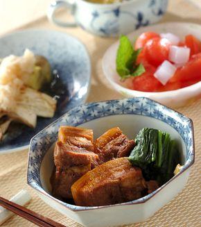 豚肉の柔らか角煮」の献立・レシピ - 【E・レシピ】料理のプロが作る ... 豚肉の柔らか角煮の献立