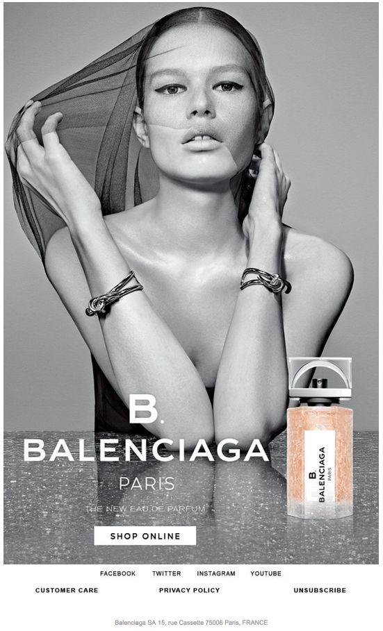Scopri la nuova eau de parfum B. Balenciaga