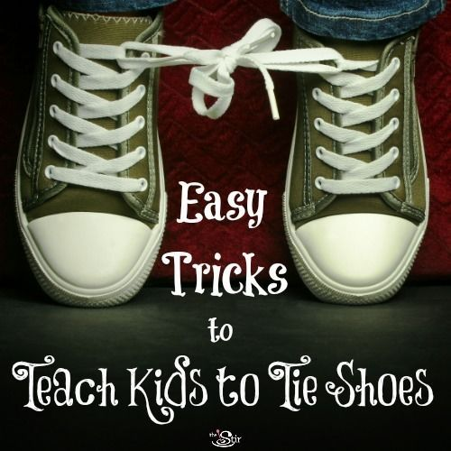 Easy shoe tying tricks for Cooper and Layne