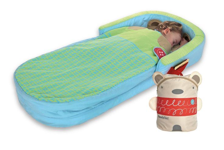 Bear Hug My First Ready Toddler Travel Portable Air Mattress Inflatable Air Sleepover Bed