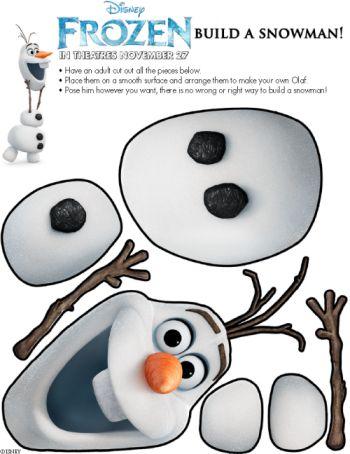 Disney Frozen: FREE Olaf Snowman Printable