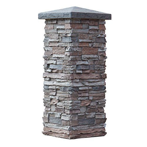 Looking For Stone Columns : Faux stone column wraps with easy install kit pole wrap