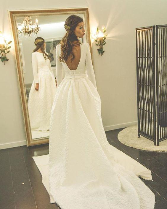 decote costas vestido de noiva