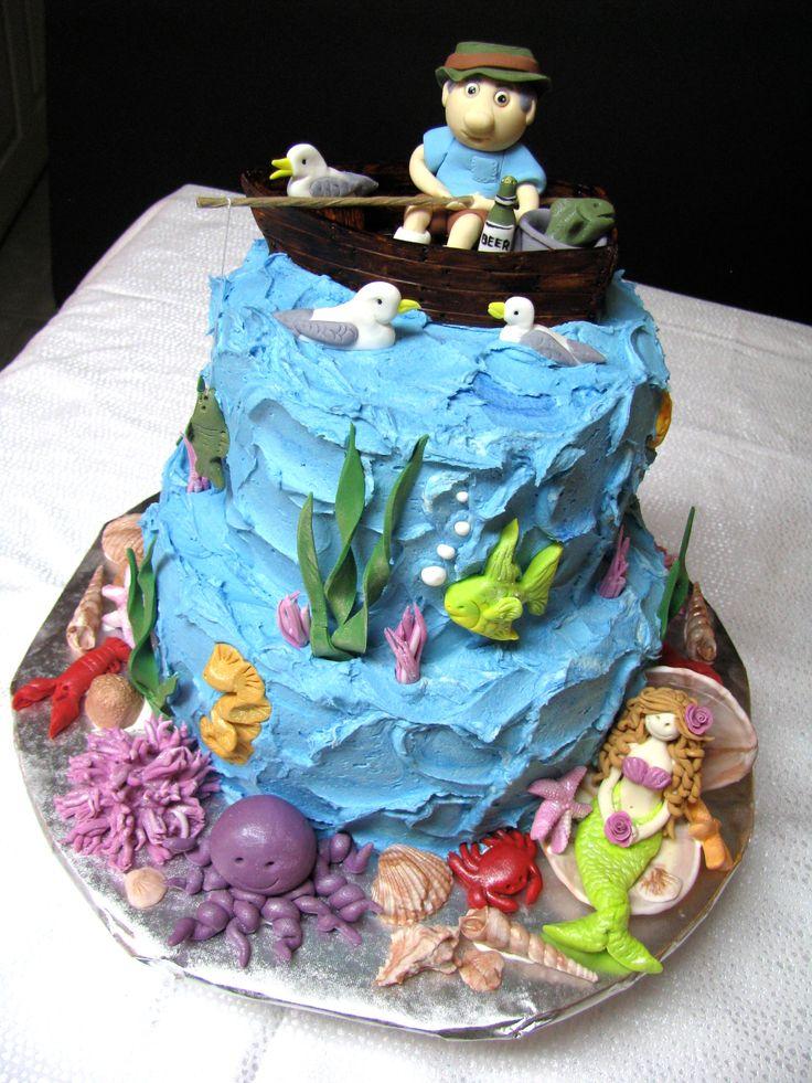 dad birthday cakes fishing cakes sea cakes pretty cupcakes cute cakes ...