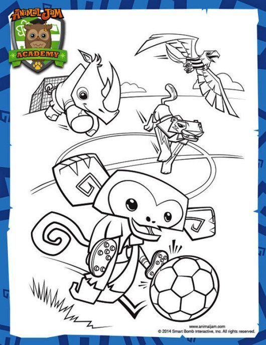 9 best Animal Jam coloring and activity pages images on Pinterest - best of under the sea coral coloring pages