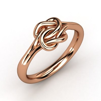 The Lover's Knot Ring in rose gold