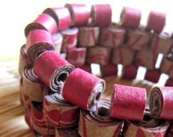 Gioielli di braccialetto gioielli riciclati di PaperMelon