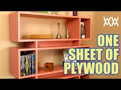 Make a cool bookcase using a single sheet of plywood. Read more about this project here: http://woodworking.formeremortals.net/2013/05/single-sheet-of-plywoo...