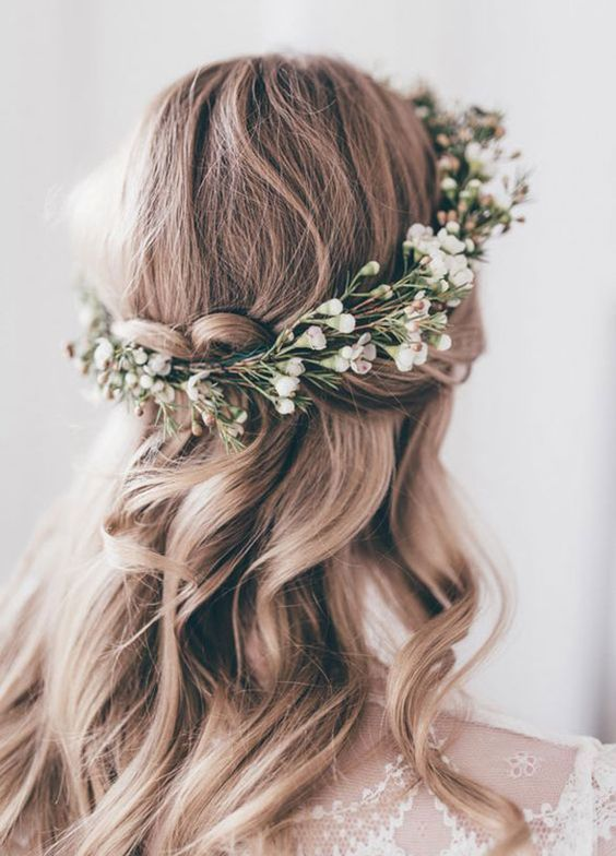 Wedding Hairstyle With Crown : Best wavy wedding hairstyles ideas on