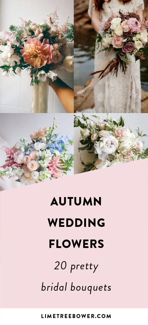 20 Autumn Wedding Flowers | 20 Wedding Bouquets for Fall | Wedding Flowers Autumn | Wedding Flowers for Fall