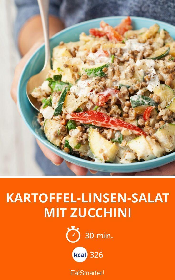 Kartoffel-Linsen-Salat mit Zucchini | Kalorien: 326 Kcal - Zeit: 30 Min. | http://eatsmarter.de/rezepte/kartoffel-linsen-salat-mit-zucchini