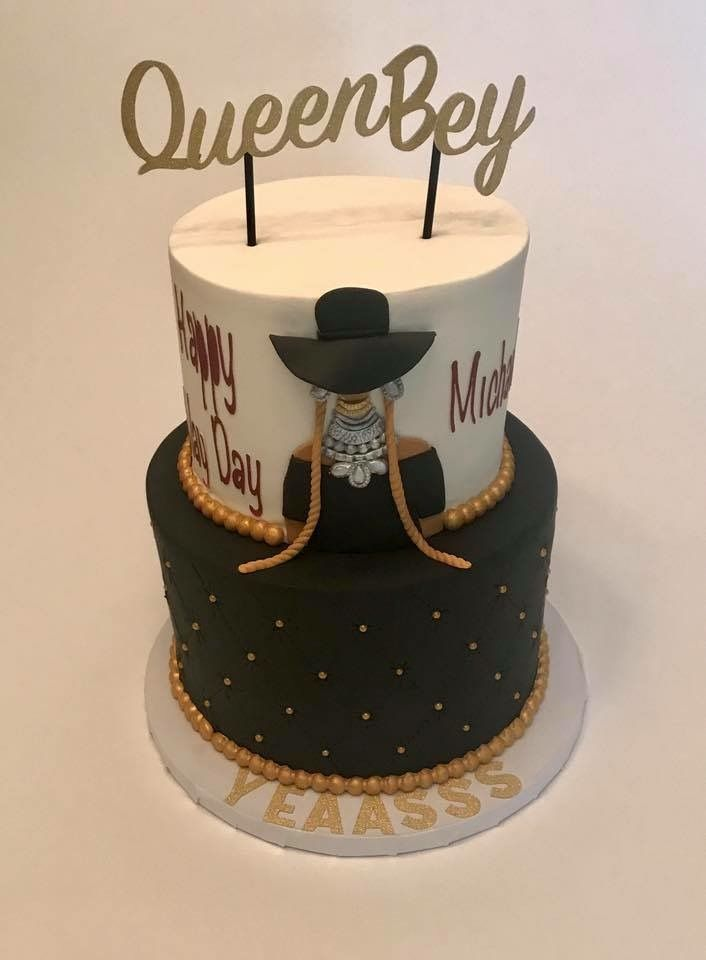 Peachy Beyonce Themed Birthday Cake With Images Themed Birthday Cakes Personalised Birthday Cards Cominlily Jamesorg
