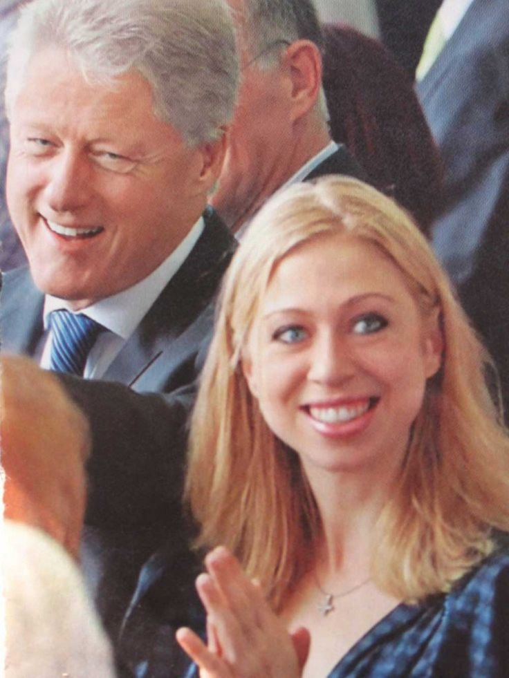 Chelsea Clinton wearing an inverted cross. Click to enlarge