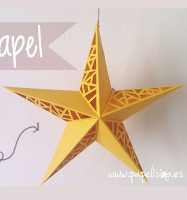 DIY Paper cut star - easy Christmas decor (free printable) // Áttört hatású papír csillag - karácsonyi dekoráció ( nyomtatható sablon ) // Mindy - craft tutorial collection // #crafts #DIY #craftTutorial #tutorial