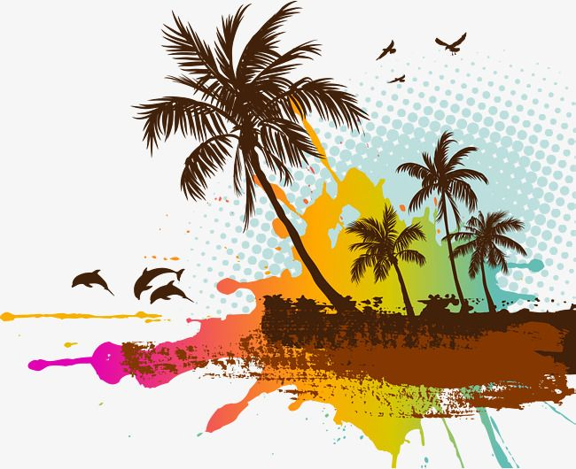 Vector Coconut Tree Bird Material Coconut Tree Clipart Coconut Vector Tree Vector Png And Vector With Transparent Background For Free Download Tree Tattoo Palm Tree Drawing Family Tree Tattoo