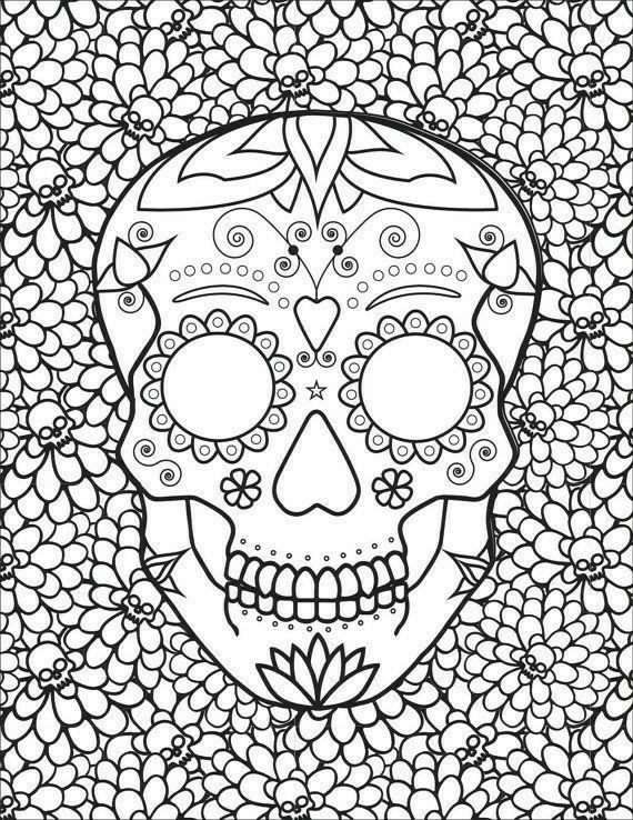 Sugar Skull Coloring Pages Coloring Pages Adult Coloring Adult