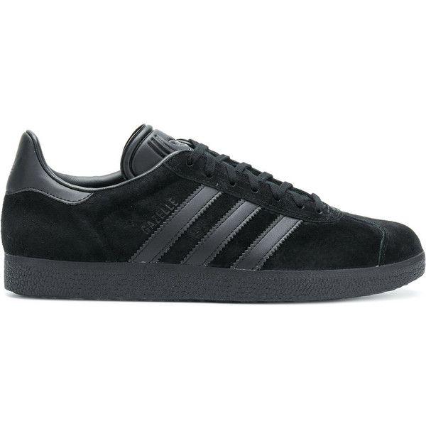 Adidas Gazelle sneakers ($150) ? liked on Polyvore featuring men\u0027s fashion, men\u0027s  shoes, men\u0027s sneakers, black, mens rubber sole shoes, adidas mens ...