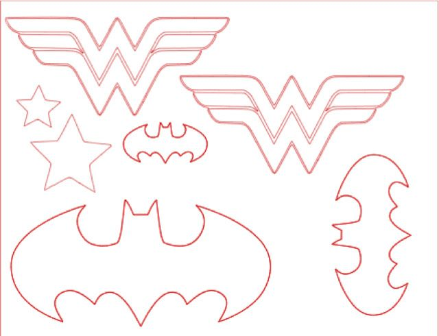 wonder woman // batman logos-templates
