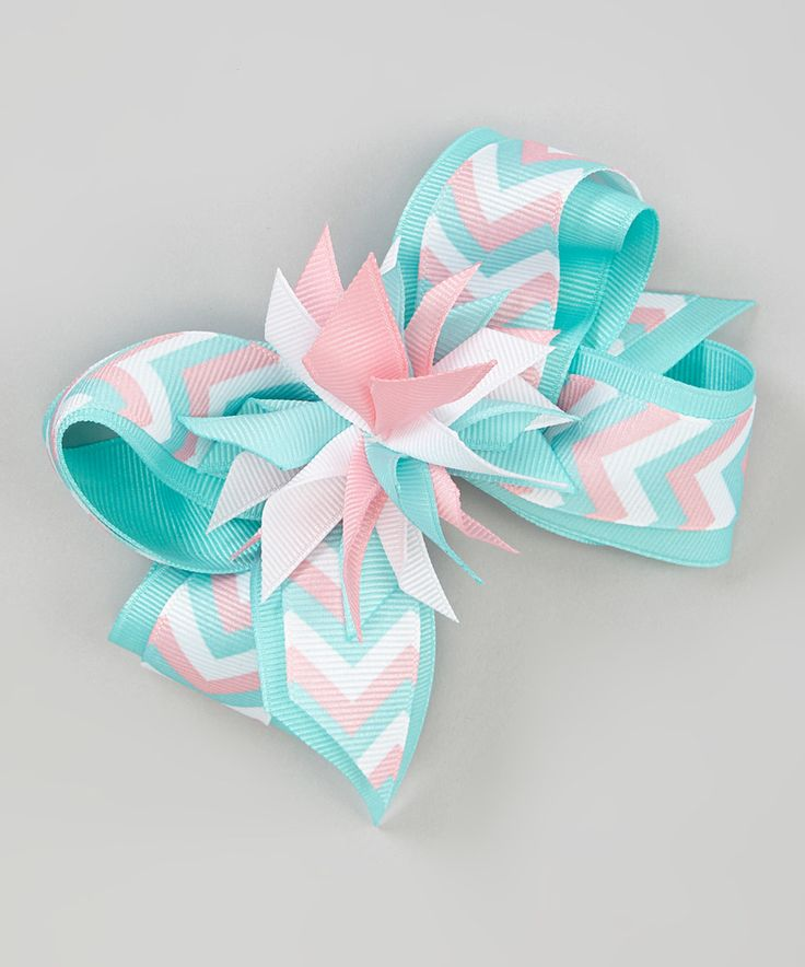Another great find on #zulily! Pink & Blue Surprise Layer Bow Clip by Picture Perfect Hair Bows #zulilyfinds