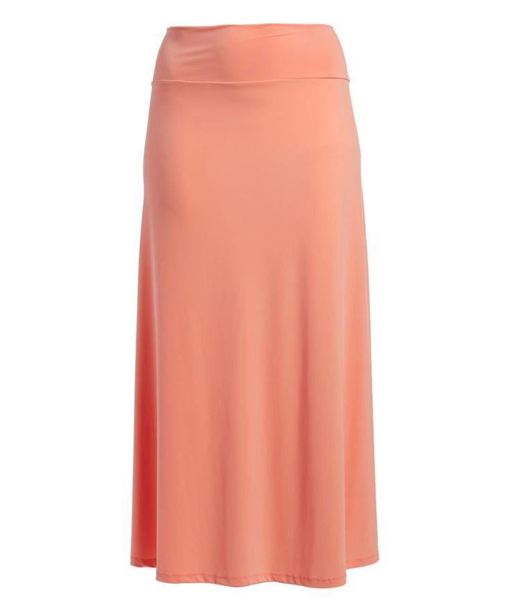 Peach Maxi Skirt - Plus