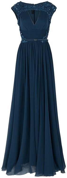 Ellie Saab gown in stunning, classic navy. | With love and light