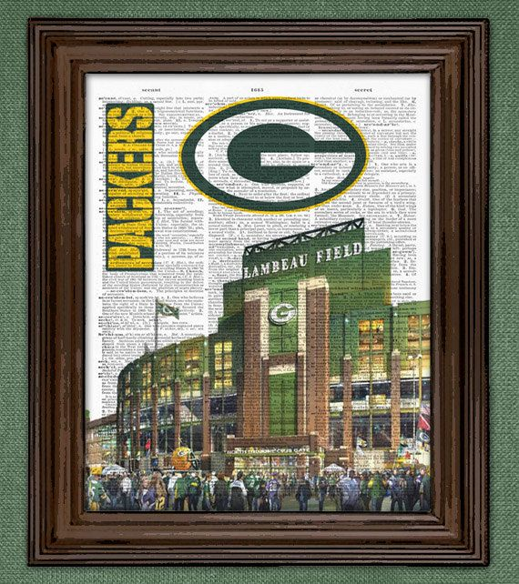 Green Bay Packers Dictionary Art Print By DictionaryPagePrints