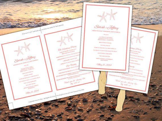 Best 25+ Beach Wedding Programs Ideas On Pinterest