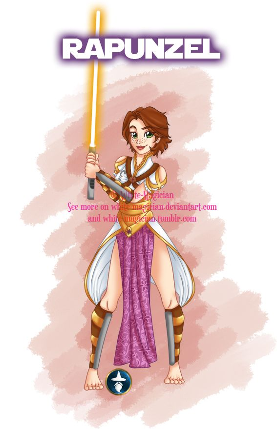 Disney Jedi Princess Brunette!Rapunzel by White-Magician.deviantart.com on @deviantART
