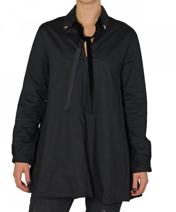 Γυναικείο πουκαμισοφόρεμα κλος Coocu μαύρο τσοκερ 39803 #γυναικείαπουκάμισα #ρούχα #στυλάτα #fashion #μόδα #γυναίκες #βραδυνά #μεταξωτά