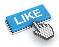 Hace clic en el botón LIKE azul...