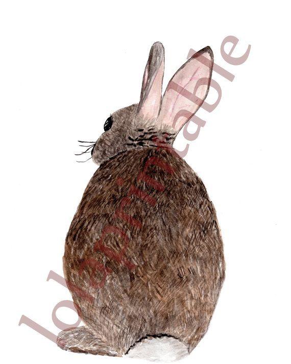 Watercolor stampe digitali di coniglio: Gli di LolaPrintable