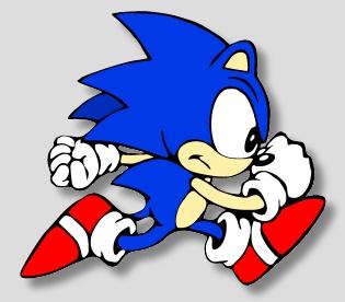 Sonic em seu movimento tradicional de corrida.    Confira também Jogos do Sonic (Online & Grátis)  em: http://www.jogoson.com.br/jogos-do-sonic/