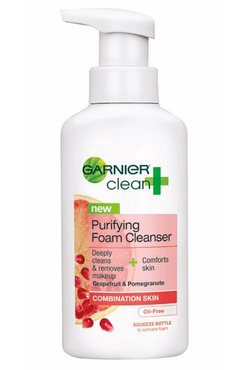 Garnier Purifying Foam Cleanser ($8, Rite Aid, In Stores Only) leaves skin feeling clean, but not stripped.