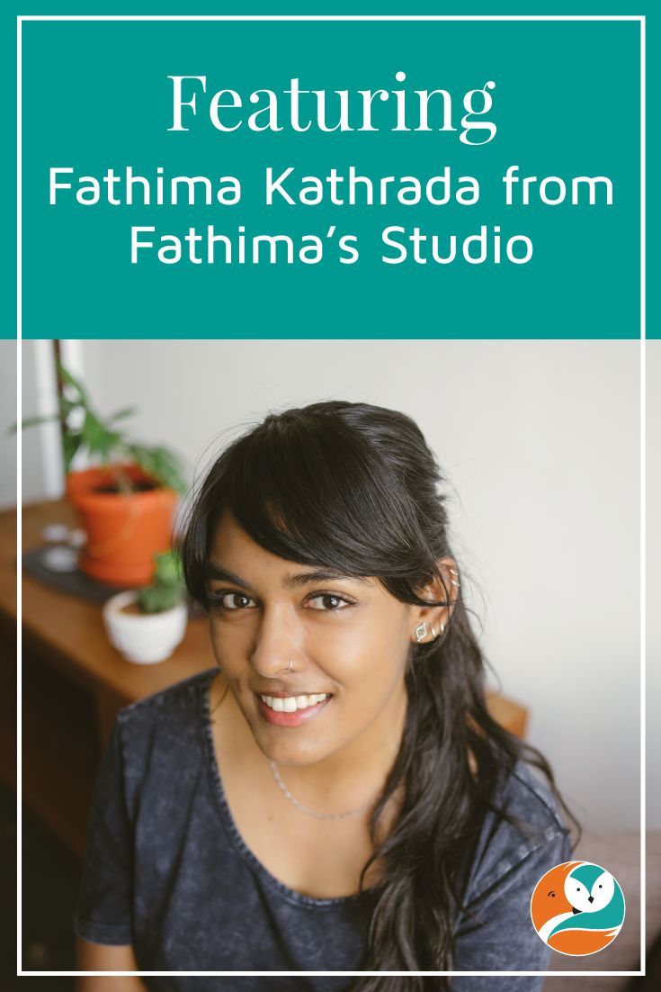 On the blog, I share my interview with Fathima Kathrada of Fathima's Studio.