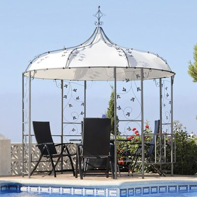 SO CUTE!!!  Transcontinental Samarkland 9.8-Foot Metal Pavilion Gazebo $358. + shipping