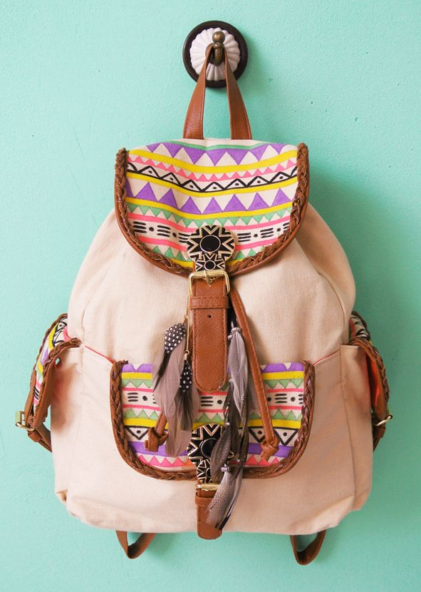 My Attic: Fashionista Update! DIY Aztec Bag Tutorial