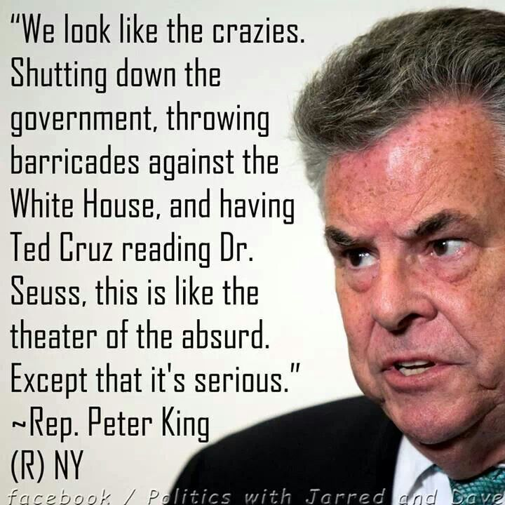 Rep. Peter King- Republican of the sane kind, making sense:)  The kind that can compromise.