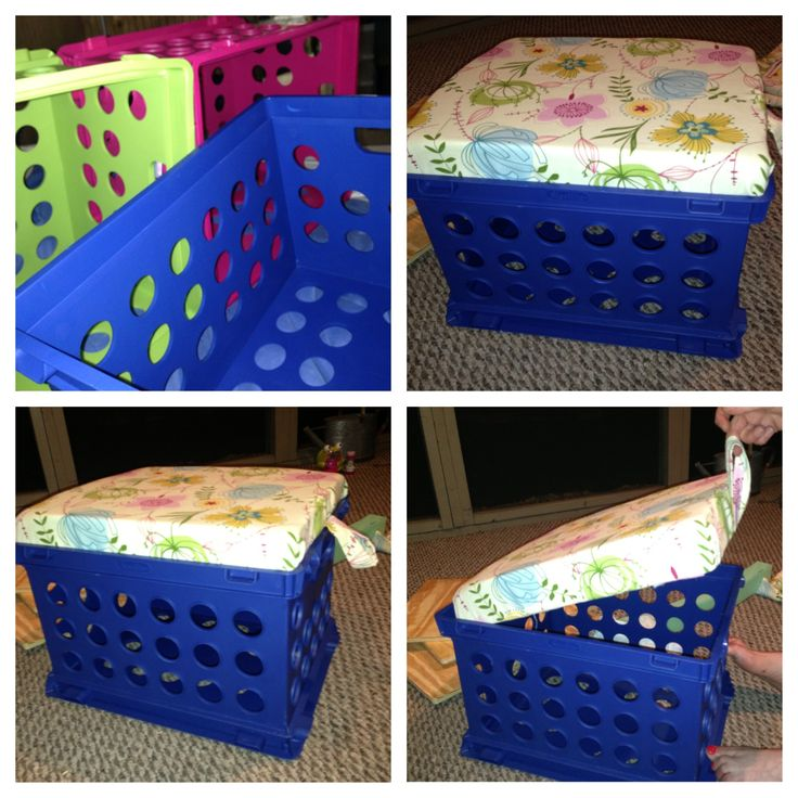 Diy Classroom Milk Crate Stools With Storage Space