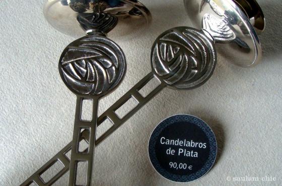 Candelabros de plata