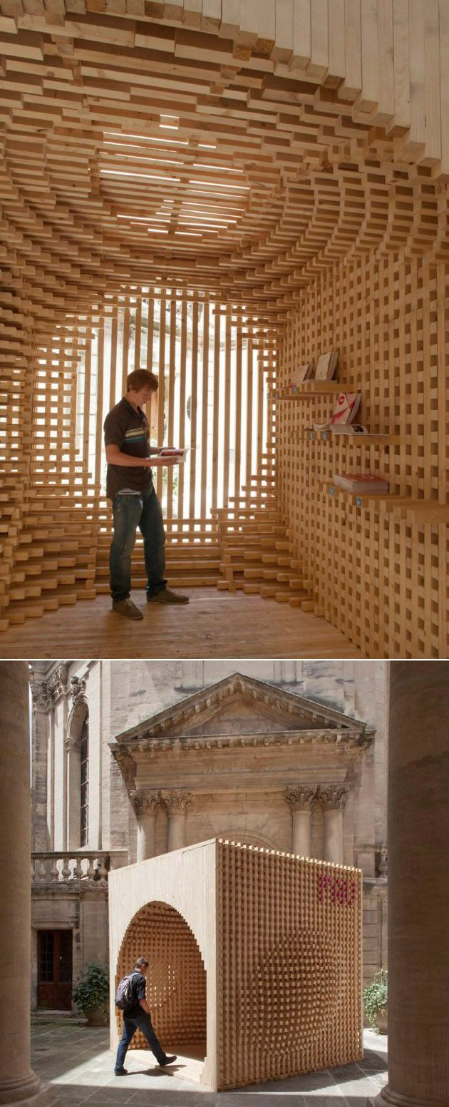 Pavilion for the festival of lively architecture in Wood architecture definition