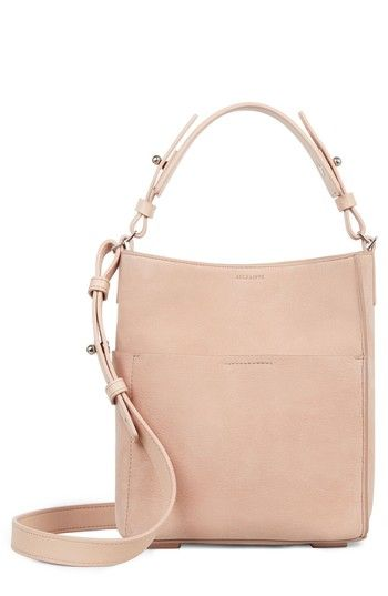 ALLSAINTS MINI MAST LEATHER NORTH/SOUTH TOTE - PINK. #allsaints #bags #shoulder bags #hand bags #leather #tote #