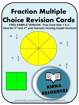 Free fractions card sample of the card sets available at Kirka Resources:  Fractions, fractions and more fractions!!  Designed specifically for level 3 and 4 learners and anyone wishing to revise or learn to compare decimals or fractions.  These high quality printable fractions cards are a great resource for revising fractions.