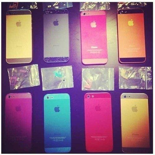 Colored iPhine cases