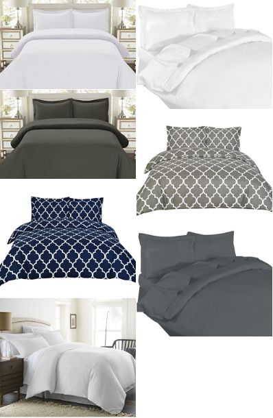 Best Duvet Covers which make for the best bedding. Colors range from: white. grey, neutral, gray, navy, some of which are awesome sets at a cheap price.